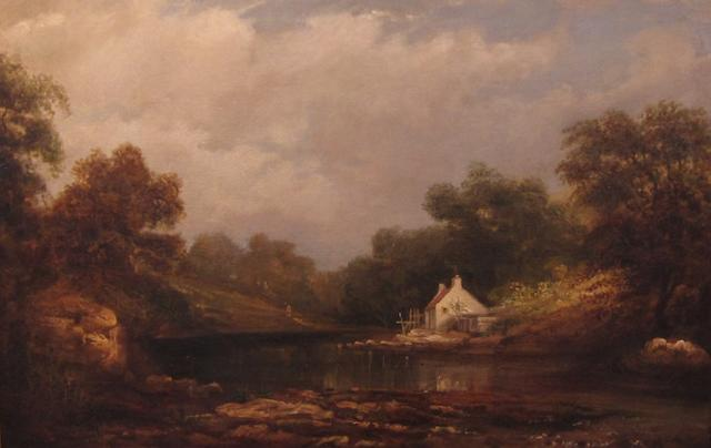 Manner of Patrick Nasmyth Cottage on the lake