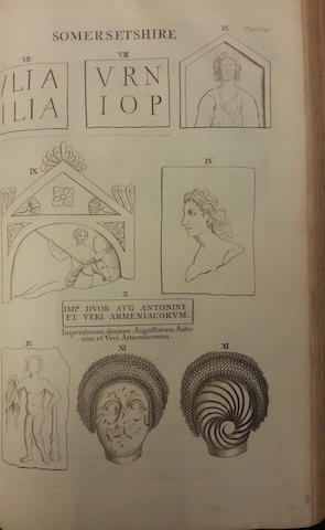HORSLEY (JOHN) Britannia Romana: or the Roman Antiquities of Britain, FIRST EDITION, John Osborn and Thomas Longman, 1722