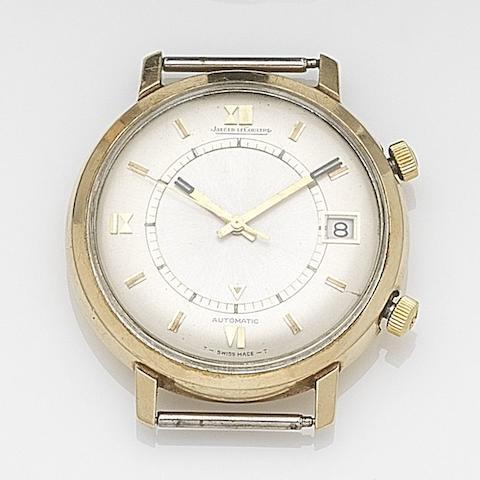 Jaeger-LeCoultre. A gold automatic calendar watch head Memovox, Case No.1085591, Circa 1956