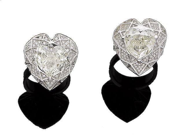 Two diamond dress rings (2)