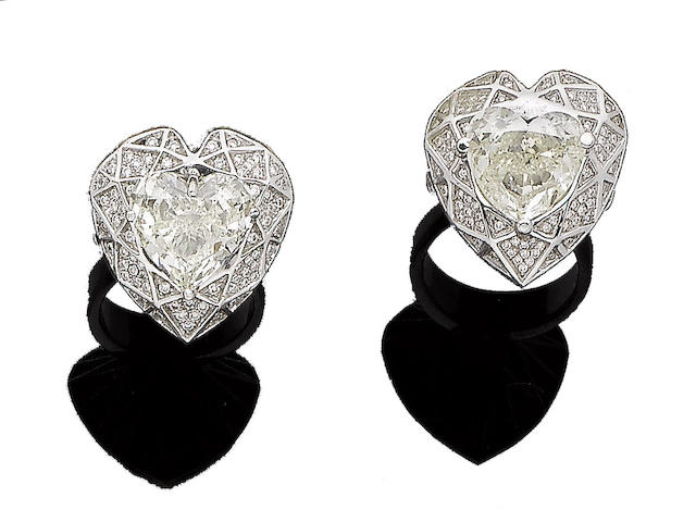 Two diamond dress rings (2)