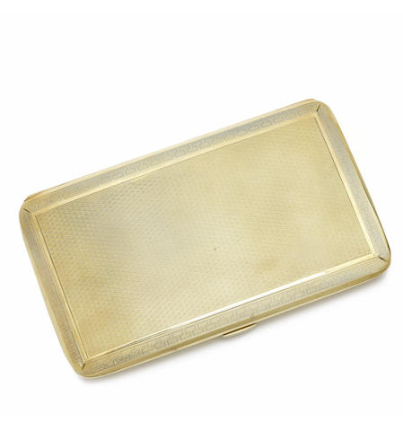 A gold cigarette case, by Mappin & Webb,