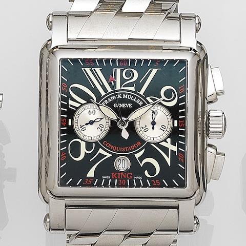 Franck Muller. A stainless steel automatic calendar chronograph bracelet watch King Conquistador Cortez, Ref:1000kcc, No.665, Sold 29th March 2011
