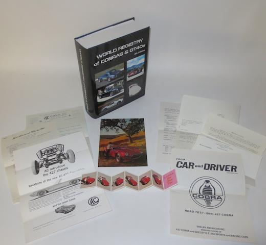 Sales ephemera relating to AC Cobra,