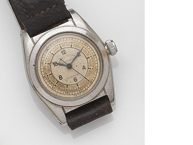 Rolex. A stainless steel manual wind wristwatch  Oyster Scientific, Ref:2765, Case No.90698, Circa 1940
