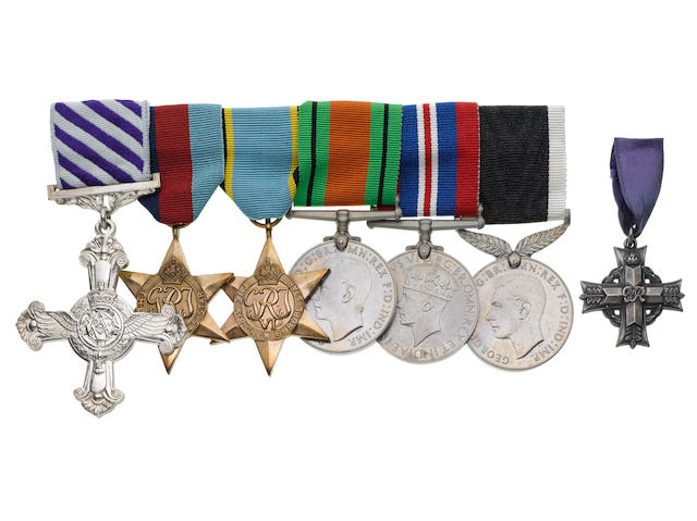 A Second World War D.F.C. group of six to Flight Lieutenant B.Martin, Royal New Zealand Air Force,
