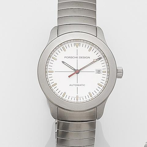 Eterna. A stainless steel automatic calendar bracelet watch Porsche Design, Ref:6602.41, Case No.113.928, Circa 1995