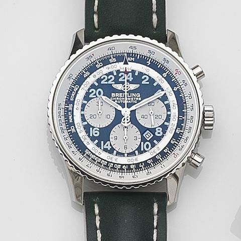 Breitling. A stainless steel automatic calendar chronograph wristwatch Cosmonaute, Ref:A22322, Case No.710744, No.308/1000, Sold 27th April 2010