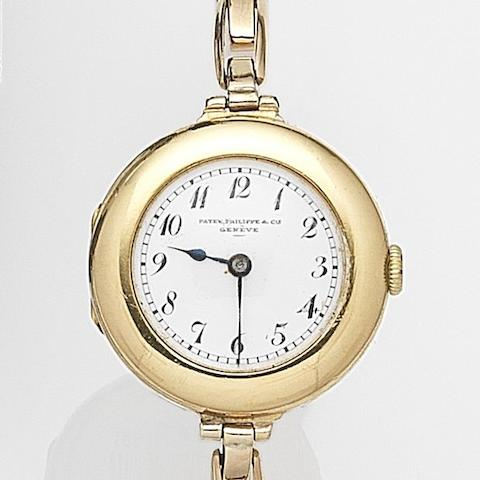 Patek Philippe. A lady's 18ct gold manual wind wristwatch (AF) Case and Cuvette No.281895, Movement and Cuvette No.178617, London Hallmark for 1914