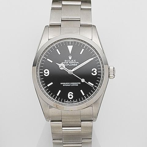Rolex. A stainless steel automatic bracelet watch Explorer, Ref:1016, Serial No.369****, Movement No.814***, Circa 1973