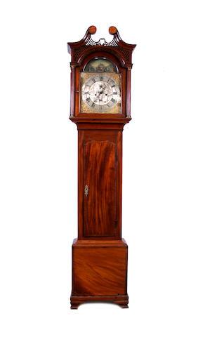 An 18th century 8 day mahogany longcase clock Nathaniel Cavell. Ipswich. a.1763-1789