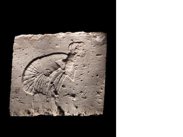An Egyptian gypsum talatat relief