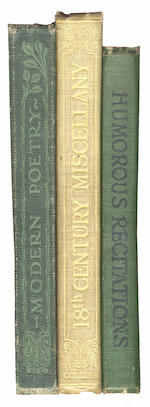 THOMAS (DYLAN) Books from the family library at Cwmdonkin Drive, Swansea, INSCRIBED, 1920-1927 (3)