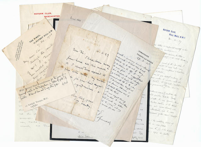 ARTS, POLITICS and  LITERATURE – THE DAILY NEWS. Collection of letters to A.G. Gardiner, editor of The Daily News, the oldest and most widely read Liberal newspaper, by Hardy, Shaw, Beerbohm, Sickert, Arnold Bennett, Masefield, Galsworthy and many others