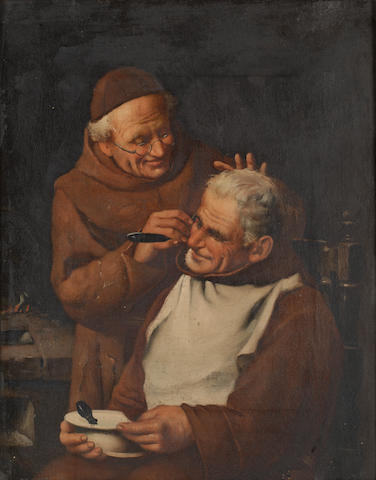 Italian School, 19th Century A close shave