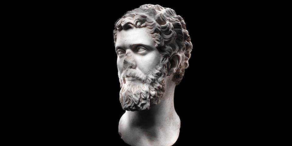 A Roman marble portrait head of the Emperor Septimius Severus