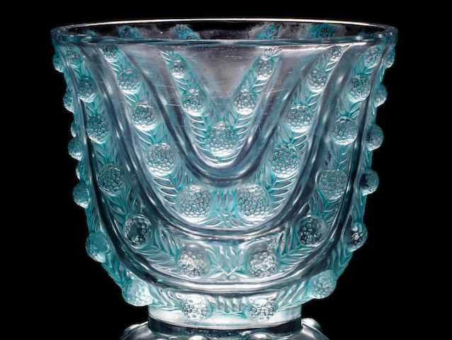 René Lalique (French, 1860-1945) 'Vichy' a Vase, design 1937