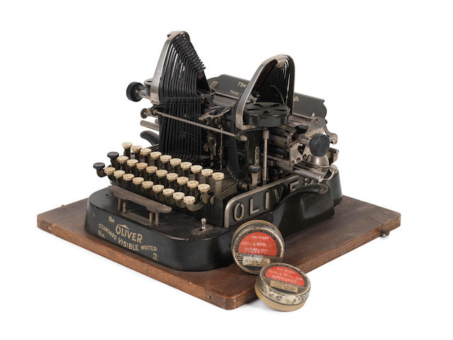 FORSTER (E.M.) 'The Oliver Standard Visible Writer No. 3', E.M. FORSTER'S TYPEWRITER, The Oliver Typewriter Co., Chicago, U.S.A., patented 1 March 1898