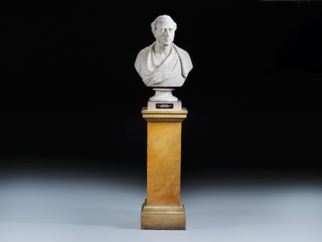 William Behnes (1791-1864), A white marble bust of Sir Charles Locock (1799-1875)