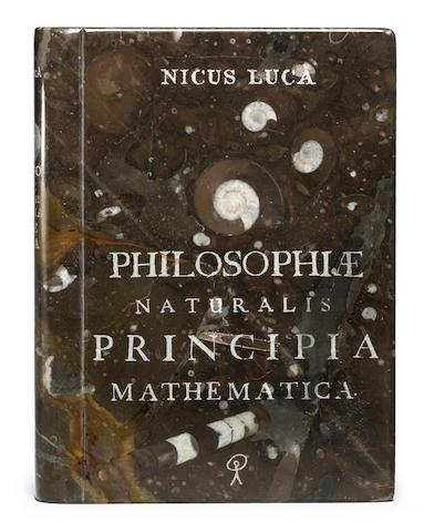 Nicus Lucà (Italian, born 1961) Philosophiae Naturalis Principia Mathematica 2012