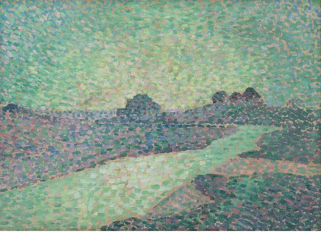 Théo Van Rysselberghe (Belgian, 1862-1926) Plage à Ambleteuse, vers le soir
