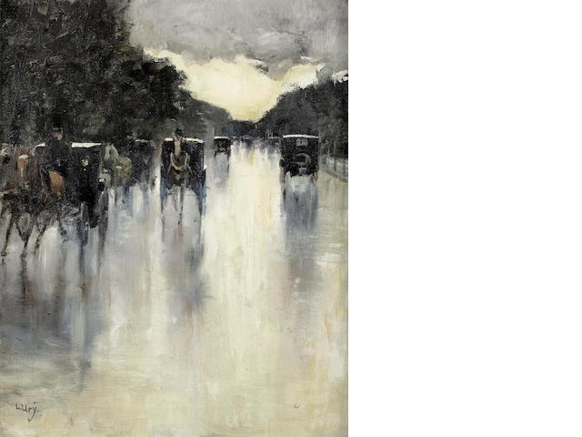 Lesser Ury (German, 1861-1931) Berliner Strassenszene