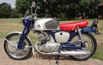 c.1961 Honda 125cc CB92 Benly Super Sport Engine no. 2101306