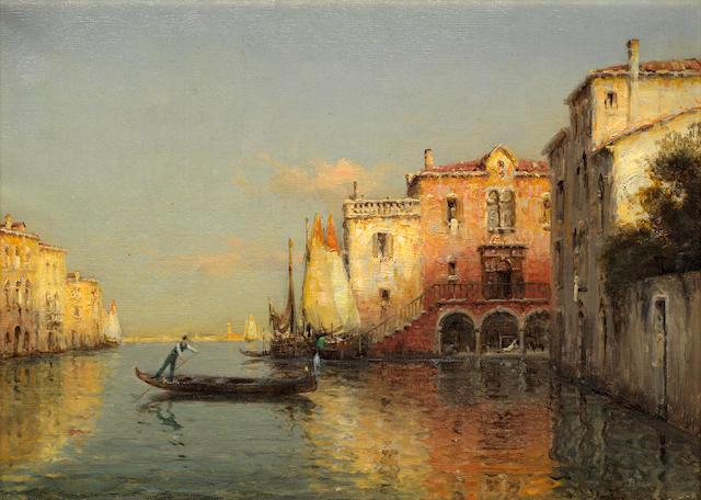 Antoine Bouvard (French, 1870-1956) A Venetian gondolier