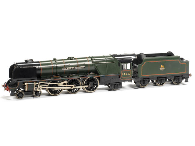 Bassett-Lowke electric British Railways Princess Coronation Class 4-6-2 Duchess of Montrose locomotive 46232 and tender
