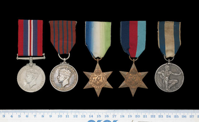 A Second World War George Medal group of five to Captain D.A.MacDonald, Merchant Navy,