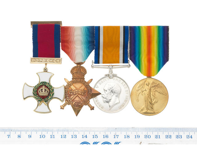 A Great War D.S.O. group of four to Lieutenant Commander C.D.Simmons, Royal Naval Reserve,
