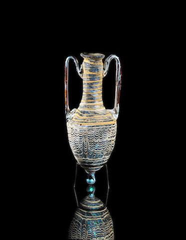 A Hellenistic core-formed glass amphoriskos