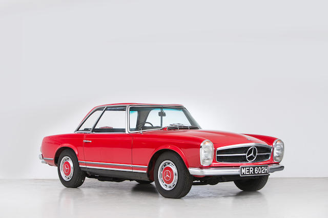 1969 Mercedes-Benz  280SL Convertible with Hardtop  Chassis no. 1130442011204 Engine no. 13098322007002