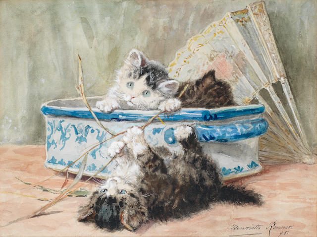 Henriette Ronner-Knip (Dutch, 1821-1909) Give us joy