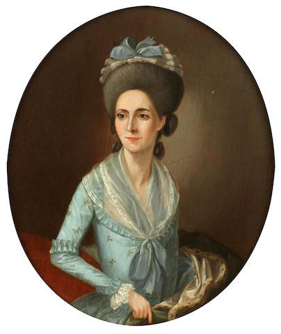 English School, 18th Century Portrait of a lady