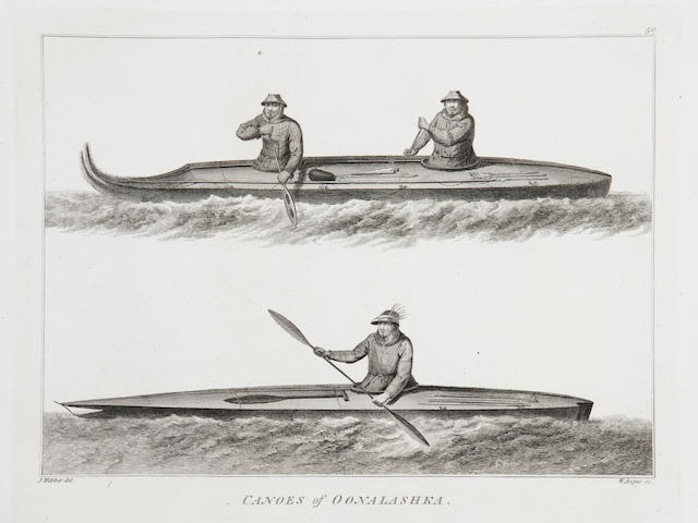 COOK (JAMES) and JAMES KING A Voyage to the Pacific Ocean], Atlas vol. only, [G. Nicol and T. Cadell, 1784]
