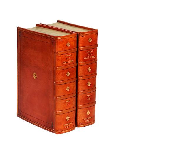 GALILEI (GALILEO) Opere di Galileo Galilei linceo nobile Fiorentino già lettore delle matematiche nelle Università di Pisa, e di Padova, di poi sopraordinario nello studio di Pisa, 2 vol., 1655-1656
