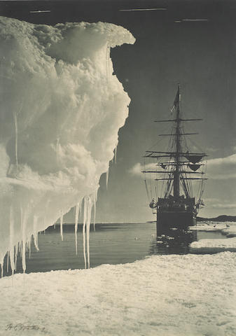 POLAR PONTING (HERBERT GEORGE) The Terra Nova at the ice foot, [1911]