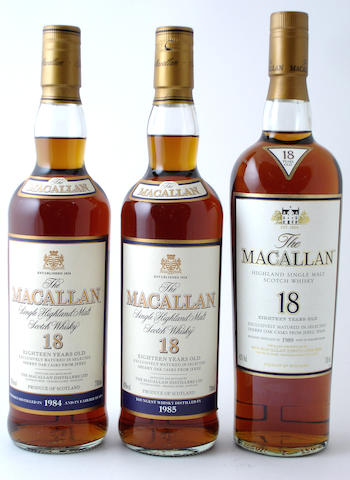 The Macallan-18 year old-1984The Macallan-18 year old-1985The Macallan-18 year old-1989