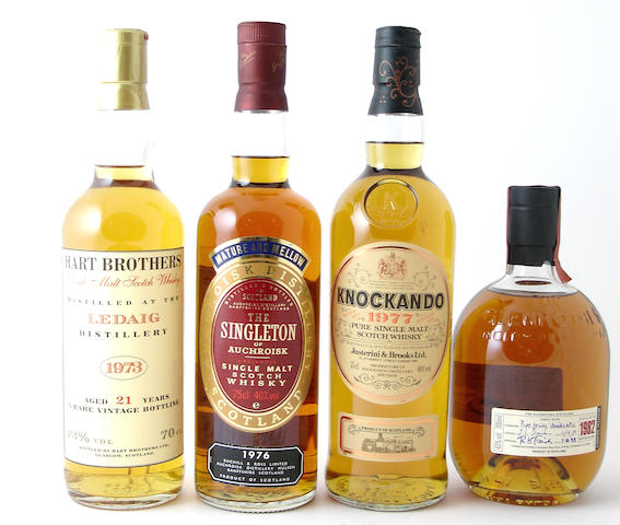 Ledaig-21 year old-1973The Singleton of Auchroisk-1976Knockando-1977Glenrothes-1982