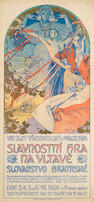 Alphonse Mucha (Czech, 1860-1939) Poster for The Sokol Festival in Prague, 1926