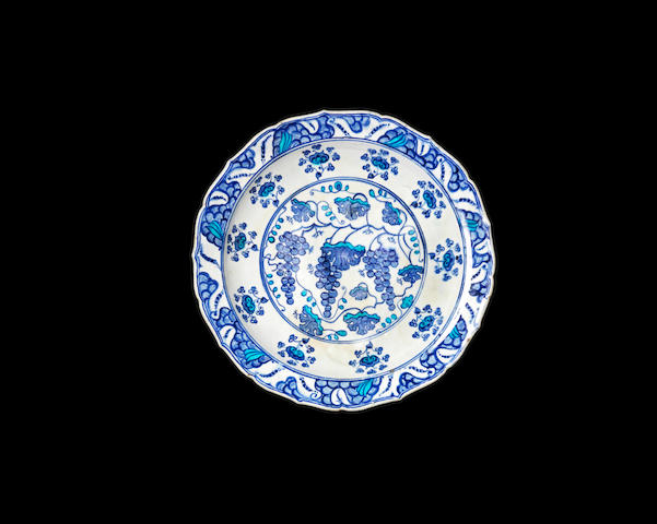 An Iznik pottery Grape Dish Turkey, circa 1550