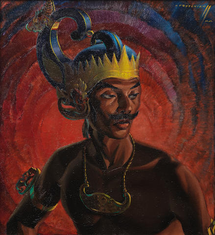 Vladimir Griegorovich Tretchikoff (South African, 1913-2006) 'Wajang Dancer, Java'