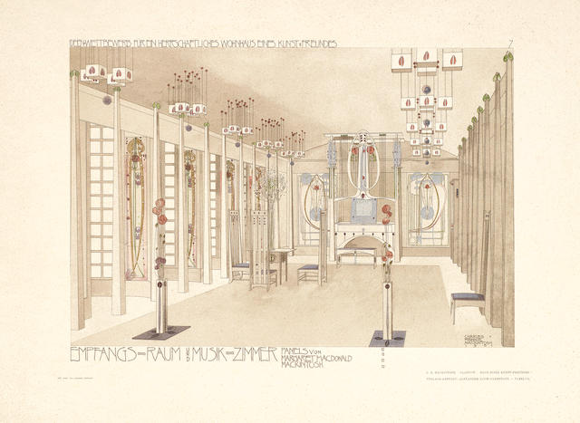 MACKINTOSH (CHARLES RENNIE), BAILLIE SCOTT and LEOPOLD BAUER Meister der Innen-Kunst, 3 parts, Darmstadt, Alex Koch, [1902]