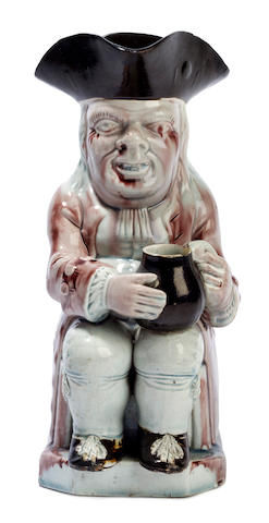 A Staffordshire pearlware Toby jug, circa 1800