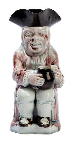 A Staffordshire pearlware Toby jug, circa 1800