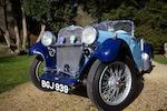 1934 Singer 9hp Le Mans Sports  Chassis no. 62536 Engine no. 56340