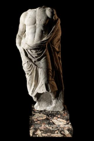 A Roman marble figure of Asclepius