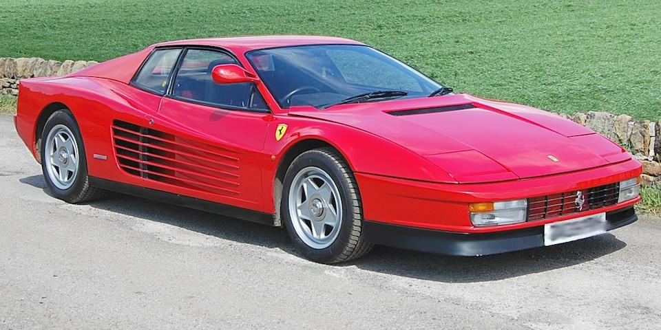 1986 Ferrari Testarossa Coupé  Chassis no. ZFFTA17C000064989 Engine no. 00675