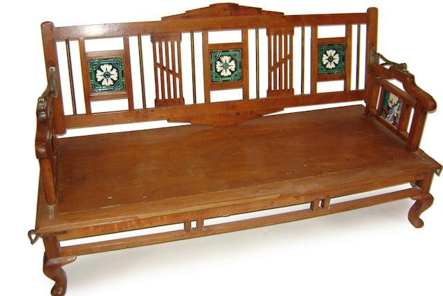 A Chinese hardwood low seat
